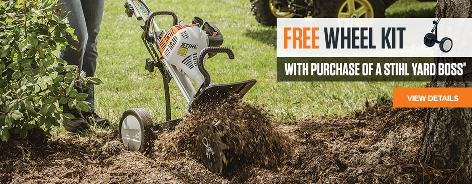 Free Wheel Kit with YARD BOSS purchase!
